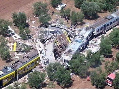 Incidente ferroviario in Puglia: scontro frontale tra due treni. Almeno 20 morti e 50 feriti