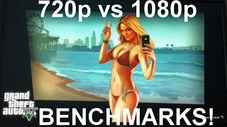 Extreme gaming: GTA V - comparison 720p and 1080p modes (benchmarks)