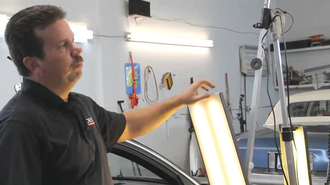 LED light for paintless dent removal - review by PDR Trainer Tim Olson - YouTube  sc 1 st  YouTube & LED light for paintless dent removal - review by PDR Trainer Tim ... azcodes.com