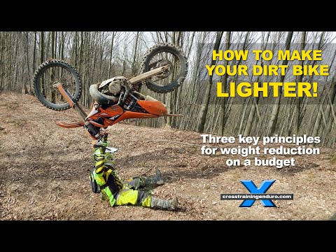 DIRT BIKE WEIGHT REDUCTION: best tips for a lighter enduro bike