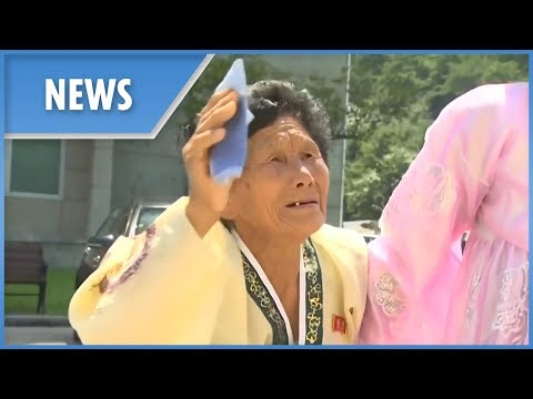 Korean families make their tearful goodbyes