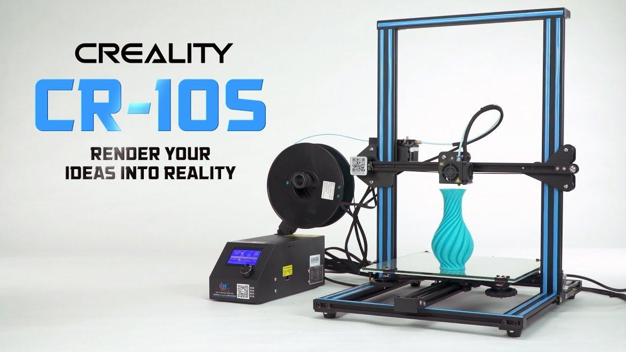 creality cr 10s 3d printer hobbyking product video youtube. Black Bedroom Furniture Sets. Home Design Ideas