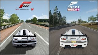 Forza Motorsport vs Forza Horizon 4 - 2008 Koenigsegg CCGT Sound Comparison