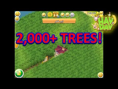 HAY DAY - OVERPLANTING 2,000+ TREES! THE INSANE FARM OF A TOP 200 PLAYER!
