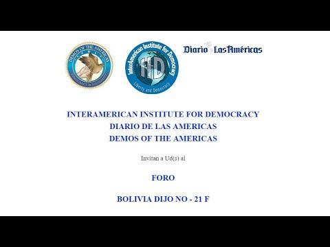 """Streaming - FORO """"BOLIVIA DIJO NO - 21 F"""""""