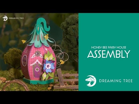SVG File - Honey Bee Fairy House SVG - Assembly Tutorial