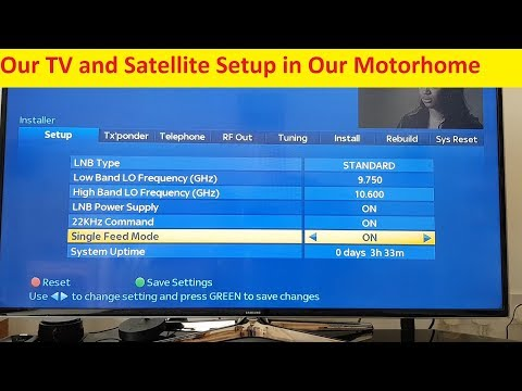 Our Motorhome TV and Satellite Set Up