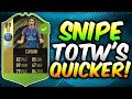 HOW TO SNIPE TOTW CARDS QUICKER! EASIER METHOD OF SNIPING! - (Fifa 18 Trading Tips)