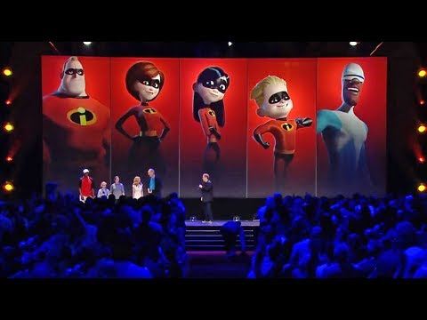"""The Incredibles 2"" cast assembled at D23 Expo 2017"