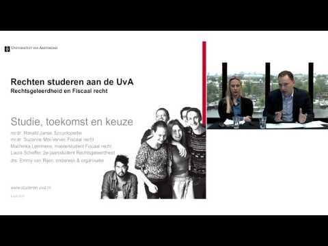Rechten studeren aan de UvA