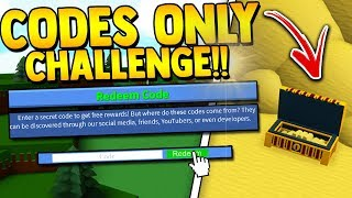 CODE ONLY CHALLENGE!! (Super HARD) | Build a boat for Treasure ROBLOX