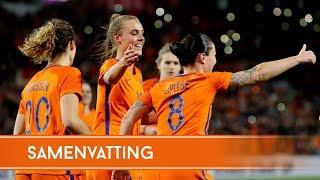 Highlights Oranjevrouwen - Noord-Ierland (06/04/2018)