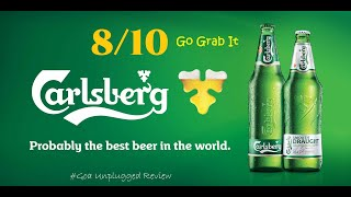 Carlsberg Smooth Lager Beer - 8/10 - Beer Review & Rating - Goa Unplugged