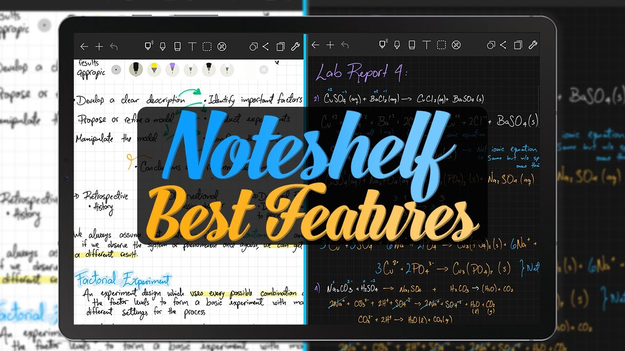 My favorite Noteshelf features   *Using the Tab S6*