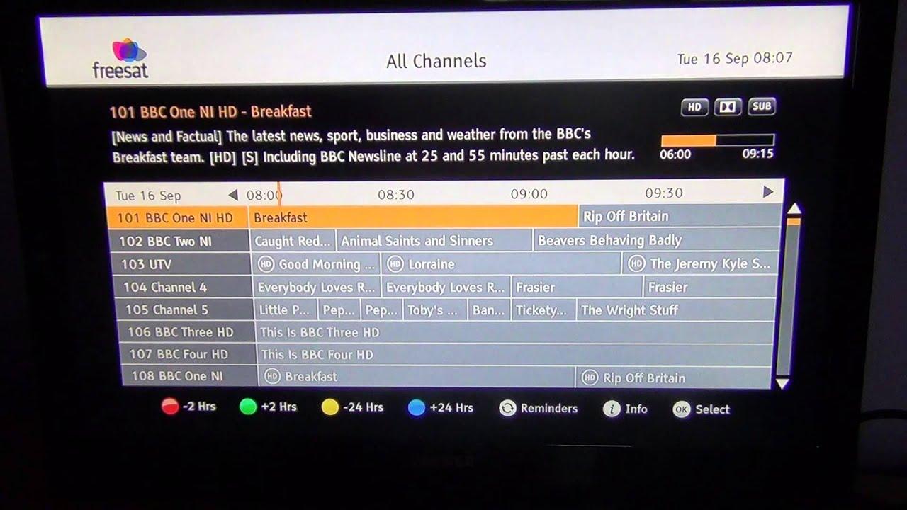Manhattan Plaza HD-S2 Freesat HD - Info & EPG