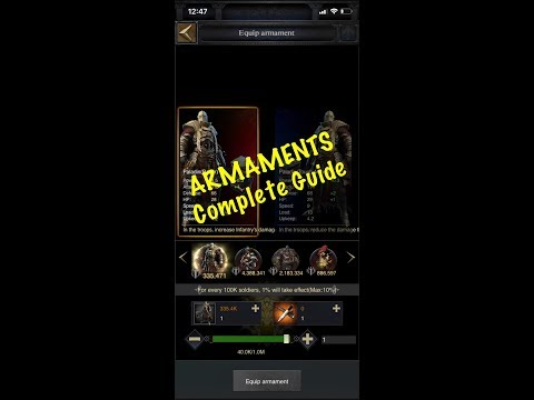 Clash Of Kings - Armaments Complete Guide