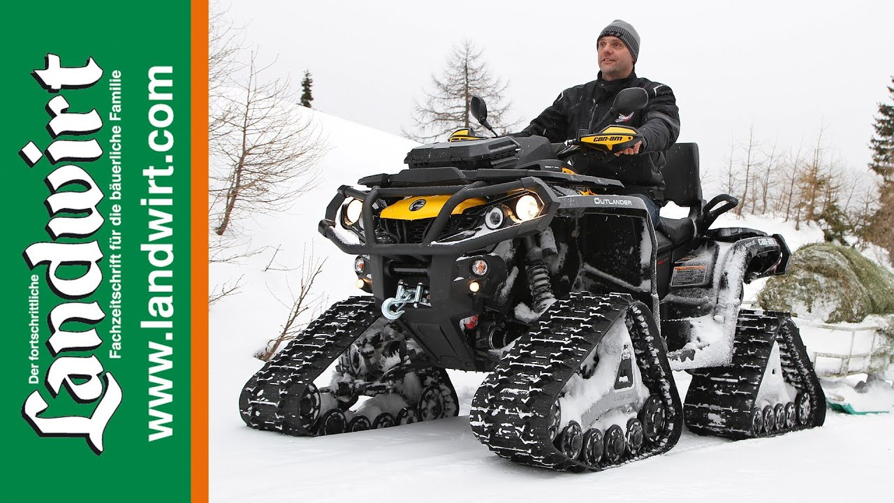 Can Am 1000 >> Can-am Outlander 1000 mit Apache Tracks - YouTube
