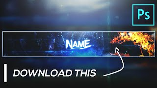 Gaming Banner Template FREE GFX | YouTube Channel Art Template | Photoshop