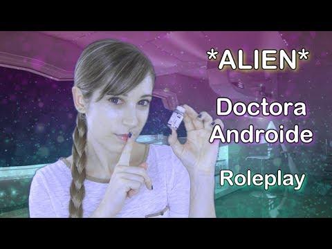 ASMR ESPAÑOL . ALIEN Roleplay . Doctora Androide . Examinación . Cuidado personal . Curo tus heridas