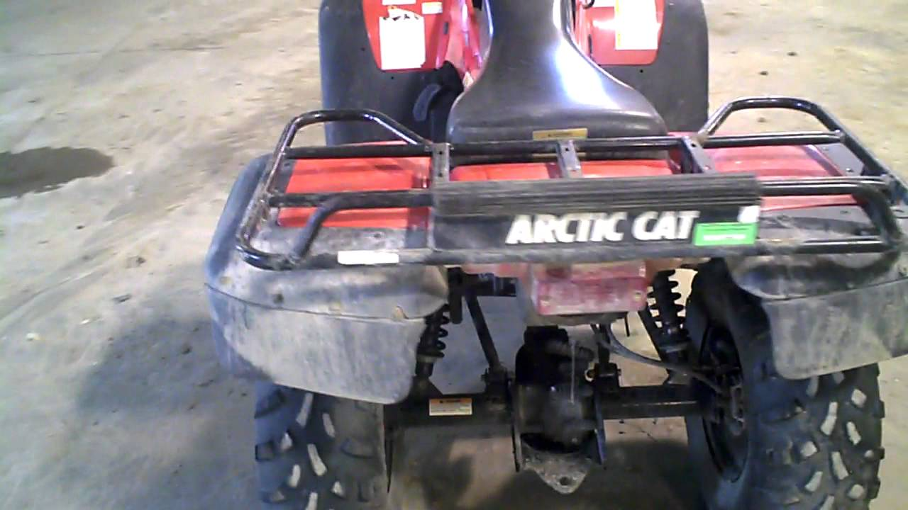 LOT 1148A 2001 Arctic Cat 500 4X4 ATV Manual Transmission 1572 Miles
