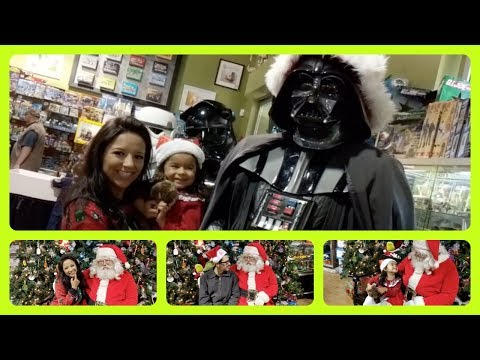 A Geek Family Meets Santa Claus & Darth Vader
