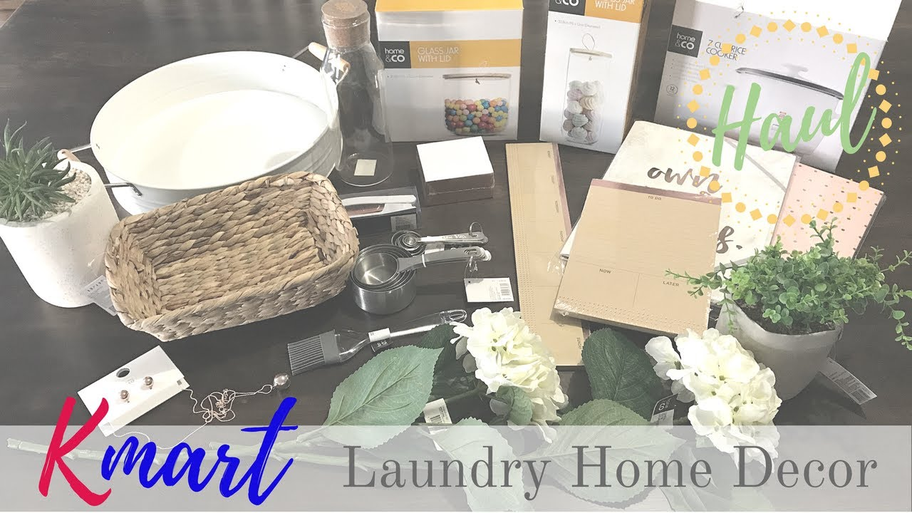 Kmart Laundry & Home Decor Haul - YouTube