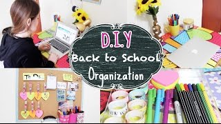 Diy: Back To School Organization (desk + Board Organization/decor) - Diy: Dicas De Organização