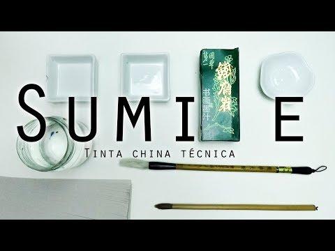 Esencial TÉCNICA Basica definitiva TINTA CHINA SUMI E, facil 5 minutos ejercicio flores