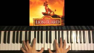 How To Play - Lion Guard - Here Comes the Lion Guard - Beau Black  (Piano Tutorial)
