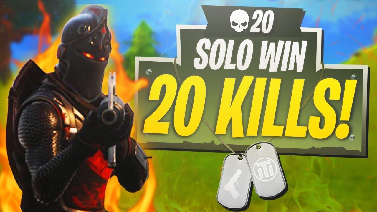 20 Kill Solo Win In Fortnite Ps4 Fortnite 20 Kill Solo Victory