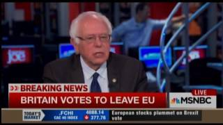 Sanders On Brexit: The 'Global Economy Is Not Working'