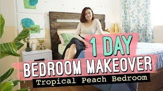 Quick Bedroom Makeover // Peach Bedroom Design Ideas // by Elle Uy