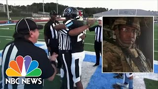 Military Dads Surprise Sons With Homecoming During Football Games