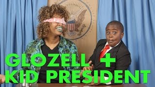 Blindfolded by Kid President!