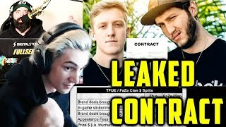 xQc Reacts NEW Leaked Contract in the TFUE vs FAZE Lawsuit Drama