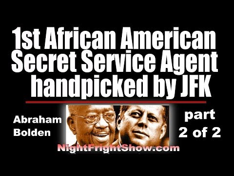 Abraham Bolden video JFK Assassination 1st Black Secret Service Part 2 of2 Night Fright Show Holland
