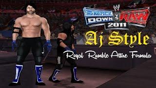 Svr2011 PS2 - Aj Style Royal Rumble Debut Attire formula