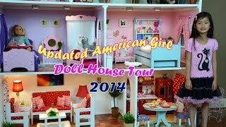 Huge American Girl Doll House  Tour 2014 !