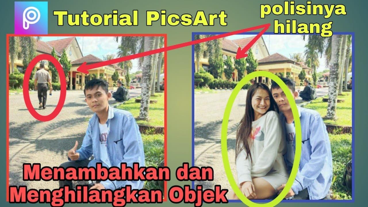 tutorial picsart : cara edit foto dengan cewek dan ...