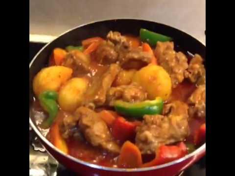 afritada pork how to cook