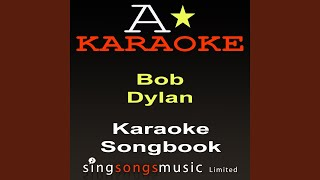 Hurricane (Originally Performed By Bob Dylan) (Karaoke Audio Version)