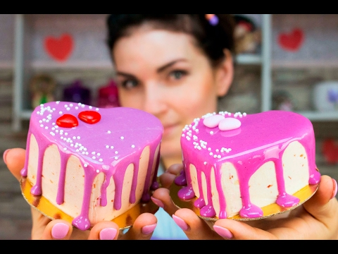 Мини торт пирожное ко дню святого Валентина / Mini Cake Cupcake Valentine's Day - Я - ТОРТодел!