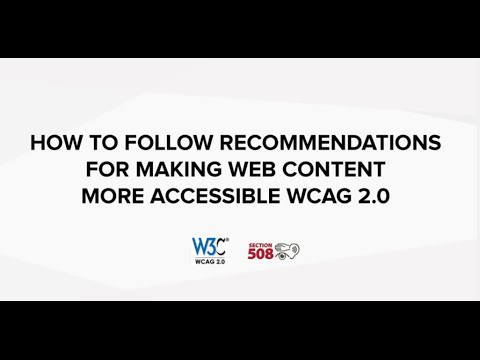 How to follow recommendations for making web content more