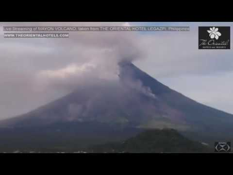"""Mayon Volcano 1-30-18  """"Pyroclastic Flow"""""""