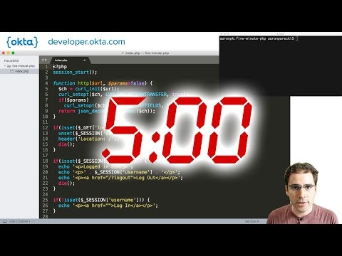 Add Authentication To Your PHP App In Five Minutes - Live Coding!