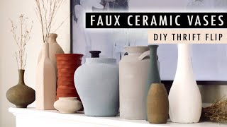 DIY FAUX CERAMIC VASES: Testing Techniques, Paints and Thrifted Vases *Thrift Flip* | XO, MaCenna