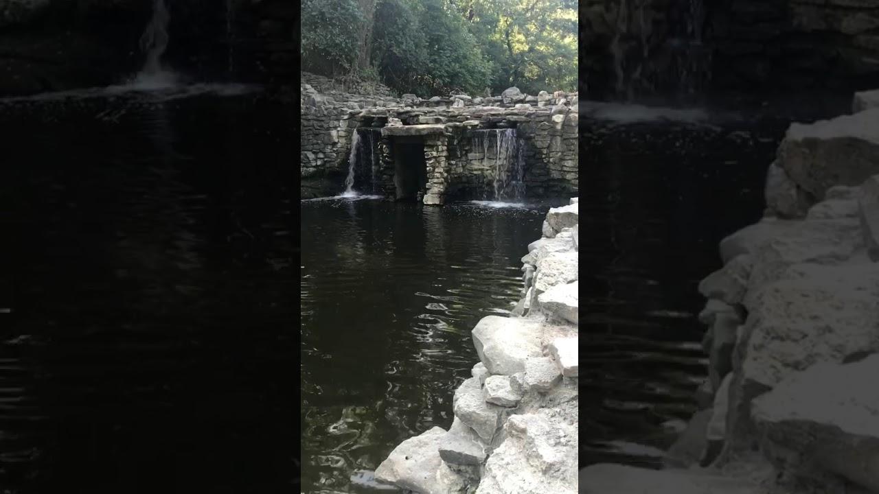 Chase waterfalls at Prairie Creek Park in Richardson Texas ...