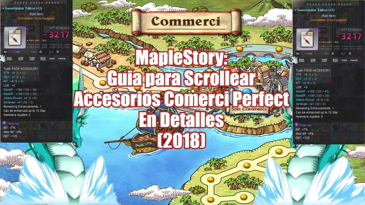 MapleStory: Guia para Scrollear Accesorios de Comerci Perfect En