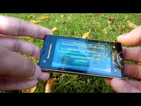 Sony Ericsson Xperia Ray Test