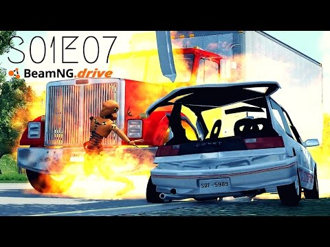 Beamng Drive Movie: Massive Pile Up (+Sound Effects) |PART 7| - S01E07